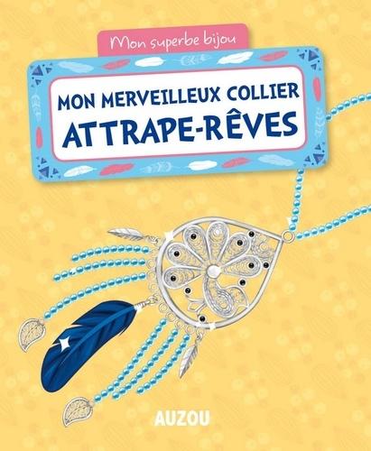 Mon merveilleux collier attrape-rêves. Avec 1 pendentif, 1 plume, 4 charms, des perles de rocaille, 1 bobine de fil, 1 fermoir et des anneaux