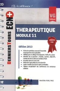 Mathilde Penel Page - Thérapeutique - Module 11.