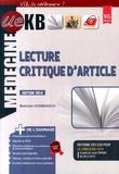 Mathilde Vermersch - Lecture critique d'article.