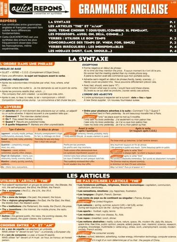 Matière à Savoir - Grammaire anglaise.