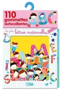 Matilde Portalés - Les jolies lettres maternelle - 110 gommettes autocollantes.