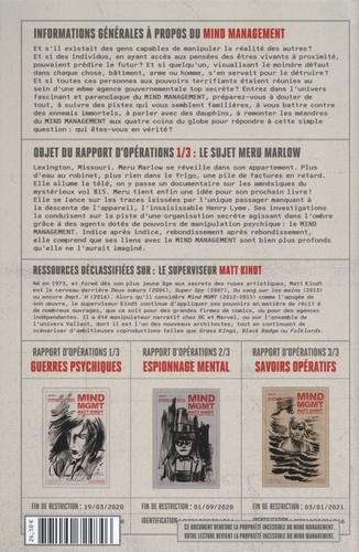 Mind MGMT Rapport d'opérations Tome 1 Guerres psychiques et leurs influences invisibles