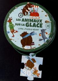 Matteo Gaule - Les animaux sur la glace - Livre + puzzle géant.