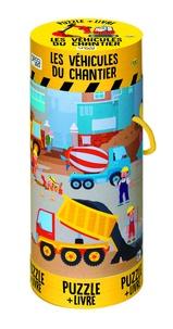 Matteo Gaule - Les véhicules du chantier - Avec un puzzle de 100 pièces et un poster.