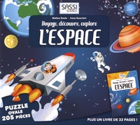 Matteo Gaule - Voyage, découvre, explore l'espace - Puzzle ovale de 205 pièces avec un livre.