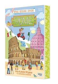 Matteo Gaule et Nadia Fabris - Voyage, découvre, explore Rome - Avec puzzle de 140 pièces et 10 silhouettes à emboiter.