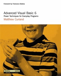 Accentsonline.fr Advanced Visual Basic 6. Power Techniques for Everyday Programs, With CD-ROM Image