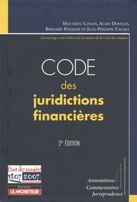 Matthieu Conan - Code des juridictions financières.