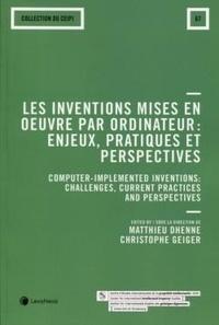 Matthieu Dhenne et Christophe Geiger - Les inventions mises en oeuvre par ordinateur - Enjeux, pratiques et perspectives.
