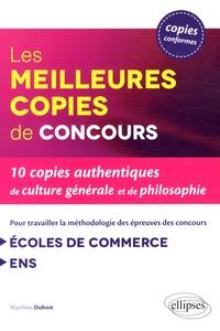 Deedr.fr Les meilleures copies de concours - 10 copies authentiques de culture générale et de philosophie Image
