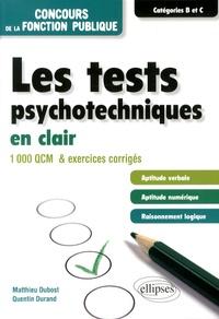 Lemememonde.fr Les tests psychotechniques en clair - 1000 QCM et exercices corrigés Image