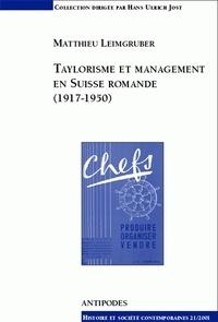 Taylorisme et management en Suisse romande, 1917-1950.pdf