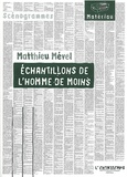 Matthieu Mével - Echantillons de l'homme de moins.