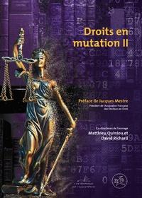 Matthieu Quiniou et David Richard - Droits en mutation - Ouvrage commun des docteurs en droit.
