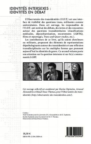 Identités intersexes : identités en débat
