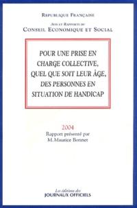 Maurice Bonnet - Pour une prise en charge collective quel que soit leur âge, des personnes en situation de handicap.