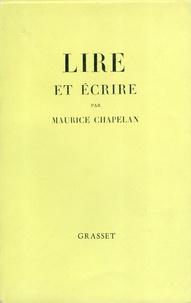 Maurice Chapelan - Lire et écrire.
