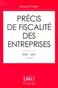 Histoiresdenlire.be Précis de fiscalité des entreprises 2000-2001 Image