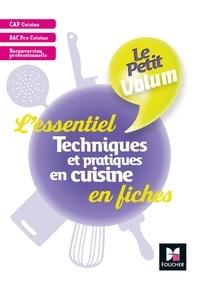 Téléchargement gratuit de livres audio avec texte Le Petit Volum' - Techniques et pratiques en cuisine - L'essentiel en fiches - Révision entrai - FXL 9782216152483