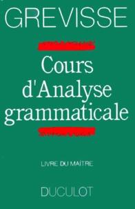 Cjtaboo.be COURS D'ANALYSE GRAMMATICALE. Livre du maître, édition 1990 Image
