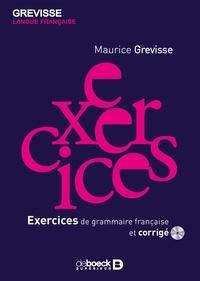 Maurice Grevisse - Exercices de grammaire française et corrigés. 1 Cédérom