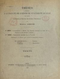 Maurice Leriche - Contribution à l'étude des poissons fossiles du nord de la France et des régions voisines - Thèses présentées à la Faculté des sciences de l'Université  de Lille pour obtenir le grade de Docteur ès sciences naturelles.