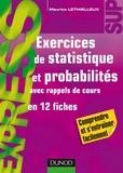 Maurice Lethielleux - Exercices de statistique et probabilités.
