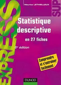 Maurice Lethielleux - Statistique descriptive en 27 fiches.