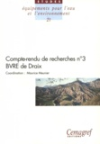 Maurice Meunier - Compte-rendu de recherches n° 3 BVRE de Draix.