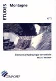 Maurice Meunier - Éléments d'hydraulique torrentielle.