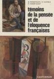 Maurice Peperstraete et Robert Vander Gucht - Témoins de la pensée et de l'éloquence françaises.