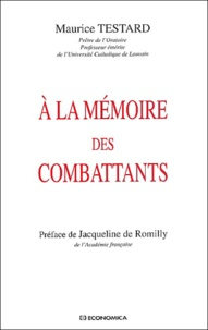 Maurice Testard - A la mémoire des combattants.