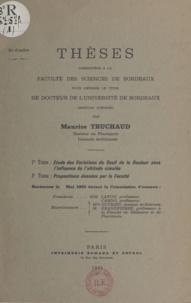 Maurice Truchaud - Étude des variations du seuil de la douleur sous l'influence de l'altitude simulée - Thèses présentés à la faculté des sciences de Bordeaux pour obtenir le titre de Docteur mention sciences.