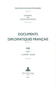 Rhonealpesinfo.fr Documents diplomatiques français 1924 - Tome 1 (1er janvier - 30 juin) Image