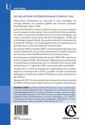 Les relations internationales depuis 1945 17e édition revue et augmentée