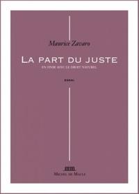 Maurice Zavaro - La part du juste.