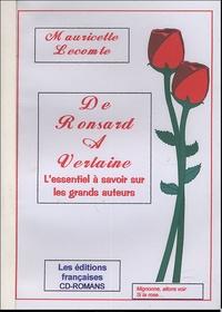 Mauricette Lecomte - De Ronsard à Verlaine - L'essentiel à savoir sur les grands auteurs.