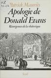 Mauries - Apologie de Donald Evans - Résurgences de la rhétorique.