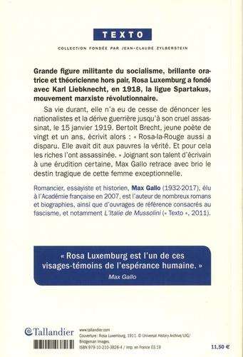 Rosa Luxemburg. Une femme rebelle