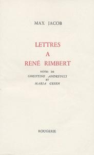 Max Jacob - Lettres à René Rimbert.