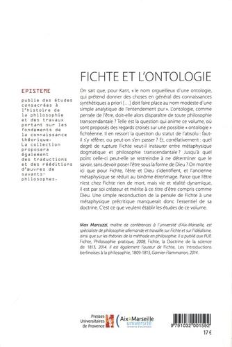 Fichte et l'ontologie