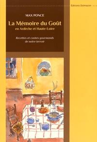 Max Ponce - La mémoire du goût en Ardèche et Haute-Loire - Recettes et contes gourmands de notre terroir.