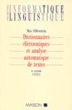 Max Silberztein - Dictionnaires électroniques et analyse automatique de textes - Le système Intex.