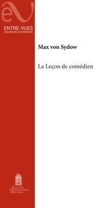 Max von Sydow - La leçon de comédien.