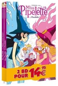 Maxe L'Hermenier et  Yllia - Miss Pipelette  : Pack en 2 volumes : Tome 1, Attention, sorcière bavarde ! ; Tome 2, Abracablabla !.