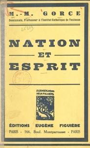 Maxime Gorce - Nation et esprit.
