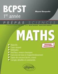 Mayeul Bacquelin - Mathématiques BCPST 1re année.