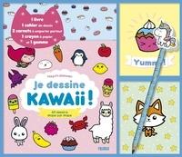 Mayumi Jezewski - Je dessine kawaii ! 60 dessins étape par étape - Coffret avec 1 livre, 1 cahier de dessin, 2 carnets à emporter partout, 1 crayon à papier et 1 gomme.