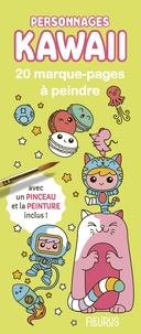Mayumi Jezewski - Personnages kawaii - 20 marque-pages à peindre avec un pinceau et de la peinture inclus !.