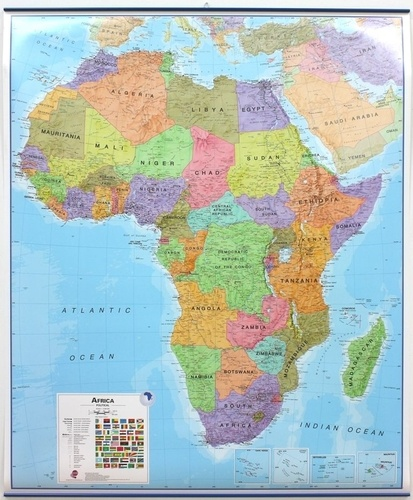 Craenen - Africa political - Laminated, with metallic strips 1/8 000 000.